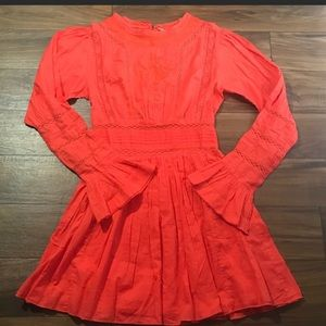 Free People Clementine Bell Sleeve Dress Sz. 6.
